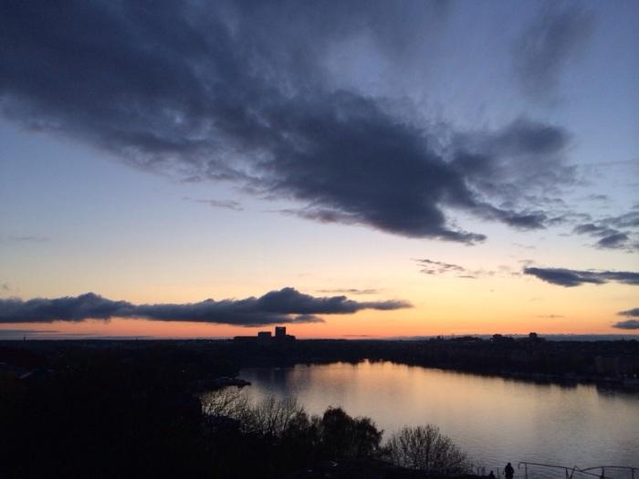 Sunset over Stockholm